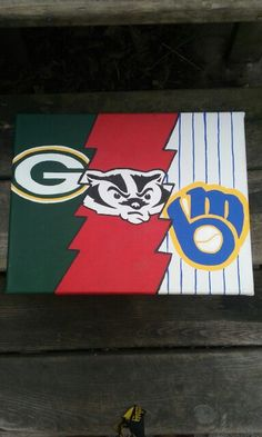 Hand Paint Canvas - Love my Wisconsin Sports!!