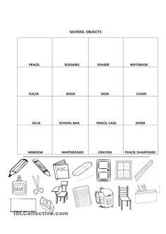 Resultado de imagen para worksheets parts of the house eng resultado de imagem para school supplies cut paste ccuart Image collections