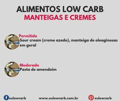 LOW CARB: ALIMENTOS PERMITIDOS, MODERADOS E PROIBIDOS Dieta Low, Light Diet, Low Carbon, Low Carb Diet, Ketogenic Diet, Ketchup, Good Food, Food And Drink, Cooking Recipes