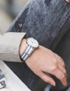 "Kapten & Son Uhr Campina mit ""Space"" Armband in Silber"