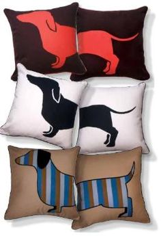 Doxie Pillows! These are adorable!