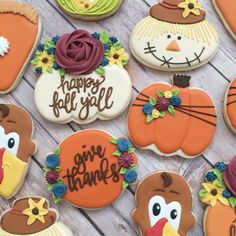 4 Thanksgiving Dessert Recipes That Can Make A Great Addition To Your Holiday Meal Thanksgiving Cookies, Fall Cookies, Iced Cookies, Cut Out Cookies, Cute Cookies, Cupcake Cookies, Christmas Cookies, Thanksgiving Prayer, Cupcakes