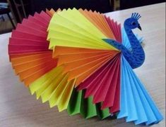 Paper Fan  Peacock. Create a fun DIY Fruit Fan with this adorable kids craft. Keep the kids busy with this fun and simple craft idea