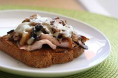 Mushroom Turkey Melts
