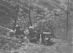 US machine gun position on Monticelli. 91st Infantry Division