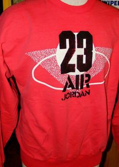AJ 3 - Red colour range Sweatshirt 1988 Grey tag