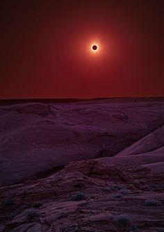 Solar Eclipse, Navajo Nation, Canyon de Chelly, Arizona