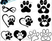 Salty Air Designs - Digital Cut Files and Clip Art by saltyairdesignsnc Vector Dog, Png Vector, Cat Paw Print, Image Font, Dog Varieties, Printing Websites, Monogram Alphabet, Cat Paws, Art File