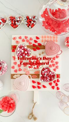 Valentine Desserts, Valentine Decorations, Valentines Diy, Candy Board, Holiday Activities For Kids, Rose Gold Wallpaper, Amor Quotes, Things To Do When Bored, Kitchen Organization