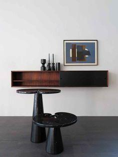 tavolini eros in marmo nero di marquinia