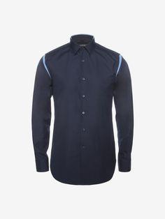 ALEXANDER MCQUEEN Satin Slash Detail Shirt Long Sleeve Shirt U a