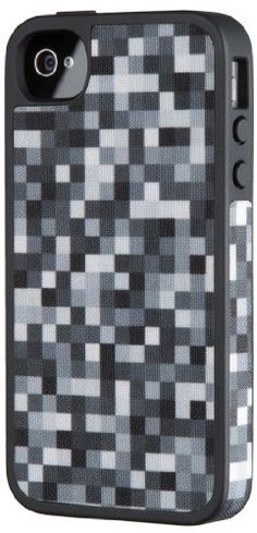 Speck Products SPK-A1009 FabShell Fabric Hard Shell Case for iPhone 4/4S - 1 Pack - Carrying Case - Retail Packaging - PixelParty Black/White by Speck Products, http://www.amazon.com/dp/B006GK5BYI/ref=cm_sw_r_pi_dp_pHBqqb1DE3FMQ