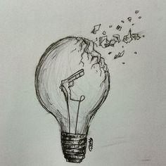 Lightbulb Light Bulb Art, Artist Bedroom, Art Pictures, Art Pics, Pencil Drawings, Art Sketches, Doodles, Artsy, Instagram Posts