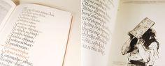 """Молдавский график И. Т. Богдеско, Оформление книги """"Мастер Маноле"""", рукописный текст и иллюстрации."""
