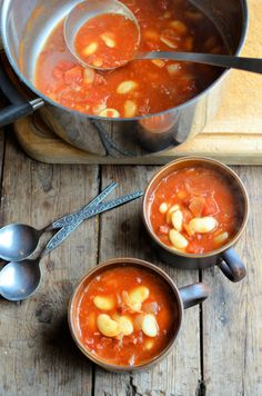 cook up a butter bean and chorizo stew for a hearty meal on a breezy fall day.