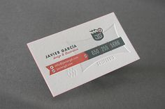 Business card | Designer: Javier Garcia - www.javiergd.com/...