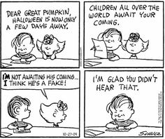 First Appearance: October Snoopy Comics, Great Pumpkin Charlie Brown, Charlie Brown And Snoopy, Peanuts Halloween, Halloween Boo, Happy Halloween, Peanuts Cartoon, Peanuts Snoopy, Peanuts Comics