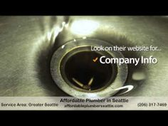 """http://youtu.be/fUYQUbvYkuo Affordable Plumbers in Seattle   We offer """"Value Pricing"""" on most repairs.  You will know the price before the work begins.  No work will be started without your approval. .  The Result? No Stress Plumbing Repairs!"""
