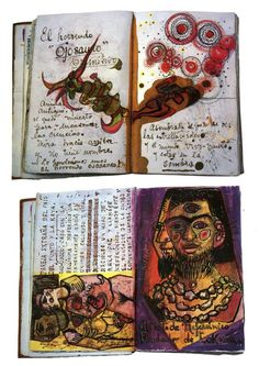 MARIA This visual journal hits as inspiration as it an example from a famous artist, Frida Kahlo. The artist develops her ideas through paint and mix media. It is also supported by annotation. Frida E Diego, Frida Kahlo Diego Rivera, Frida Art, Artist Journal, Artist Sketchbook, Art Journal Pages, Art Journals, Visual Journals, Sketchbook Cover