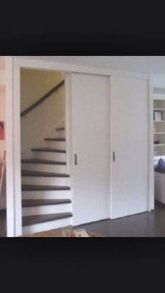 is b t I ttv b ittvittvr Staircase Storage, Basement Inspiration, Loft Room, Farmhouse Remodel, Attic Spaces, Stairways, Interior Design Living Room, Home And Living, Sweet Home