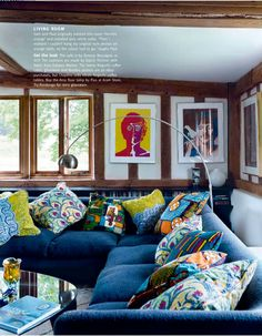 the homely place: colourful rooms
