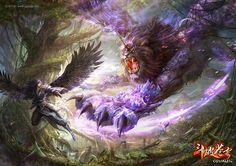 斗破苍穹2 紫晶狮王游戏怪兽高清壁纸