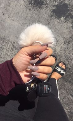 A manicure is a cosmetic elegance therapy for the finger nails and hands. A manicure could deal with just the hands, just the nails, or Cute Acrylic Nails, Acrylic Nail Designs, Acrylic Spring Nails, Acrylic Art, Nude Nails, Matte Nails, Beige Nails, Black Manicure, Neutral Nails