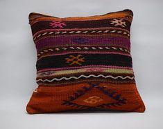 Kilim Pillow Cover Decorative Pillow Handmade Pillow Vintage Pillow Turkish Pillow Throw Pillow Kilim Pillow Kilim Cushion by TurqArts 20x20 Pillow Covers, Cushion Covers, Lumbar Pillow, Throw Pillows, Geometric Pillow, Kilim Cushions, Vintage Pillows, Bohemian Pillows, Handmade Pillows