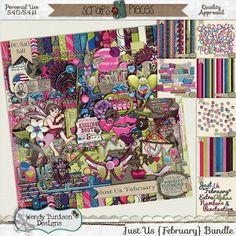 Just Us *February* Bundle {PU/S4O/S4H} [wt_JUFebBun] - $10.00 : Scraps N Pieces Store