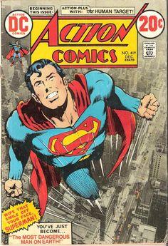 Bewegingslijnen: deze lijnen geven zowel de snelheid als de richting aan van een vliegende Superman.