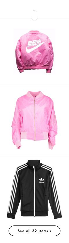 """""""..."""" by melaninmonroee ❤ liked on Polyvore featuring outerwear, jackets, tops, bomber jacket, pink jacket, bomber style jacket, pink bomber jacket, puff jacket, lightweight puffer jacket and lightweight bomber jacket"""