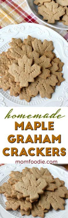 Maple Graham Crackers Recipe - homemade graham cra…