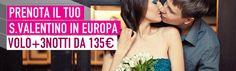 Innamorati! #SanValentino è dietro l'angolo, che aspettate? Scegliete la vostra destinazione in #Europa con Volo+3Notti da 135€ su www.it.lastminute.com