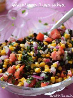 Black Bean and Corn Salsa .