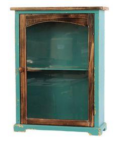Look what I found on #zulily! Blue Wood Cabinet #zulilyfinds