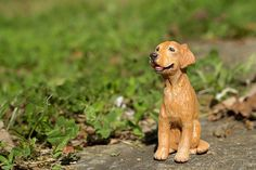 Golden Retriever Figurine by cbordersart on Etsy
