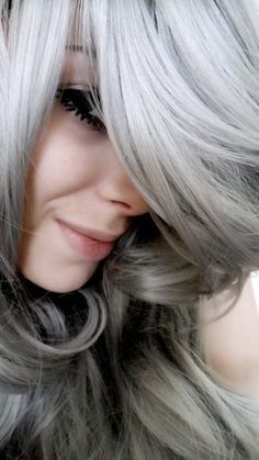 If my hair would gray like this... I would probably leave it alone and let it go gray lol