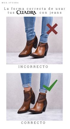 Como usar jeans y botines fashiontips tipsdemoda skinnyjeans jeans botinescafes botinesdepiel the cutest booties to get you through the end of winter into spring Fashion Wear, Cute Fashion, Womens Fashion, Fall Fashion, Fashion Tips, Fashion Trends, Cowgirl Outfits, Western Outfits, Warm Outfits