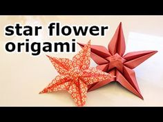 Origami star flower video tutorial - hang from ceiling with birds/butterflies