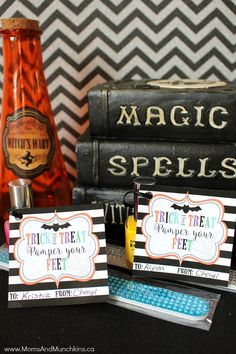 Trick Or Treat, Pamper Your Feet printables - FREE Halloween printables!