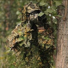 3D Leaf Yowie Sniper Ghillie Suit Jungle Camouflage Hunting Clothes Outdoor Survival Camo