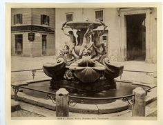 Piazza Mattei 1875 Piazza Navona, Old Photos, Rome, Vintage, Statue, Vacation, Antiques, Painting, Ebay