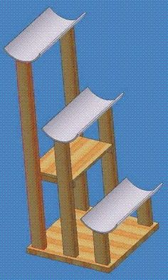 21 Free Cat Furniture Plans: Free Plans for Cat Trees, Condos, Scratching Posts and MORE.hoping to have a kitty again someday! Cool Cat Trees, Diy Cat Tree, Cat Tree Condo, Cat Condo, Cool Cats, Pet Furniture, Furniture Plans, Cat Tree Plans, Image Chat