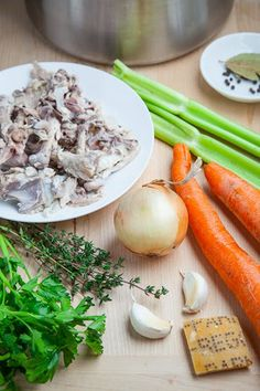 Easy Homemade Chicken Stock - this site also has Beef, Vegetable, Turkey stock recipes.