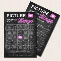 Printable Scavenger Hunt  Picture Photo BINGO  by TheCraftPixie