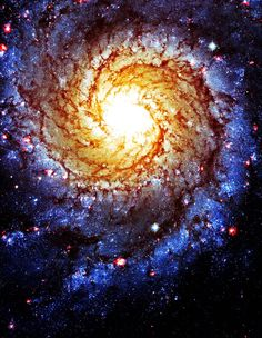 You are a living fire within the heart of the universe. Spiral Galaxy.