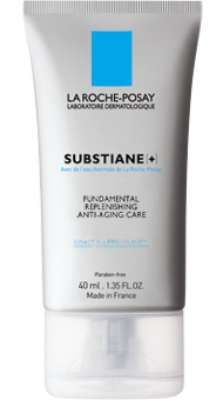 La Roche Posay Substiane + Replenishing Care For Mature Skin contains substances which firm and produce adhesion of skin cells.