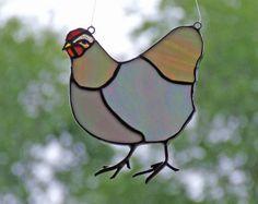 Gebrandschilderd glas kip