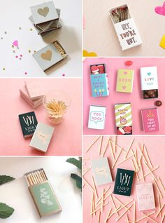 Where to Find or DIY Wedding Matches & Fun Wedding Matchbox Favours | See more on www.onefabday.com