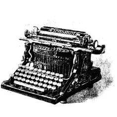 Free vintage black and white clip art Densmore typewriter Vintage Tools, Vintage Items, Antique Typewriter, Vintage Typewriters, Vintage Typography, Bird Illustration, Vintage Images, Vintage Clip, Vintage Black